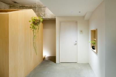 通りの小屋 (中庭の様な廊下)