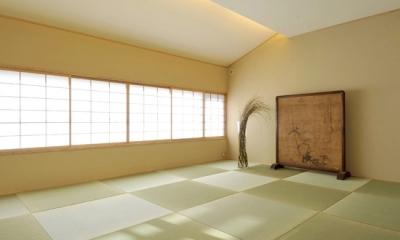 「光の家、集える庭。@現代京町家」 (和室)