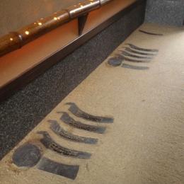 京たたき 施工例 玄関床材