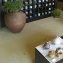 京たたき 施工例 店舗内床材