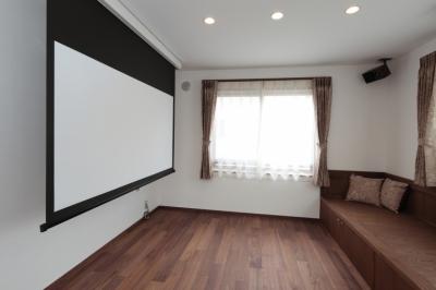 木造耐火構造の町屋~狭小地3階建ての住まい~ (音楽室)