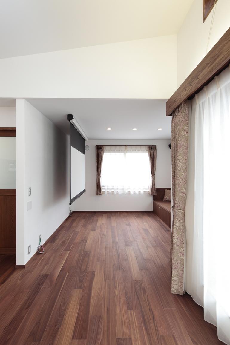 木造耐火構造の町屋の部屋 居間