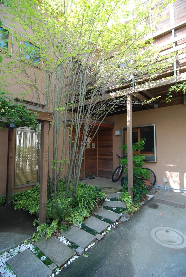 小さくても庭が欲しい (小さな家~緑の中で暮らす木のアトリエ付住宅~)