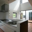 設計事務所アーキプレイスの住宅事例「猫と暮らす中庭のある家」