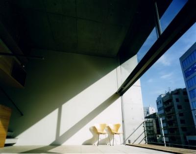 日本橋-川辺の家 (リビング)