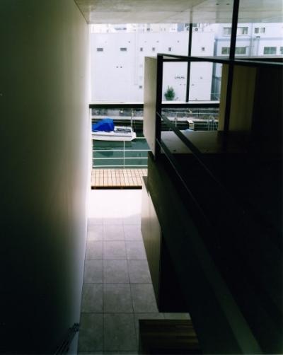 踊場からの景色 (日本橋-川辺の家)
