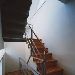 コーナーガーデンの家 (階段)