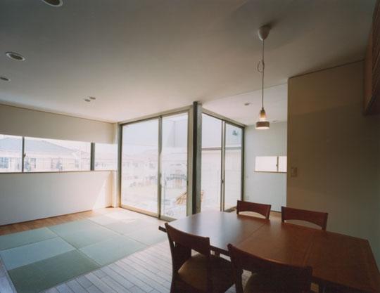 コーナーガーデンの家の部屋 2Fリビングダイニング