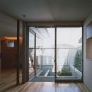 コーナーガーデンの家の写真 1F寝室から見る庭