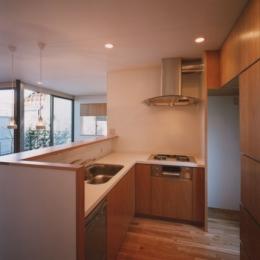 コーナーガーデンの家 (キッチン)