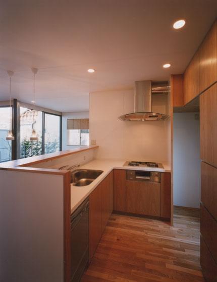 コーナーガーデンの家の部屋 キッチン
