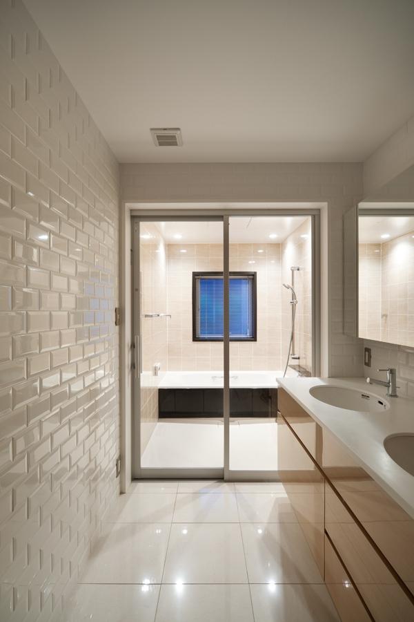 バス/トイレ事例:洗面・浴室(西荻の家)