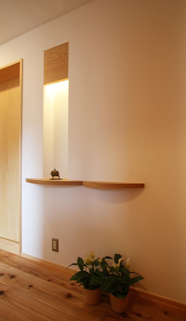 ツインバルコニーの家の部屋 ちょっとした拘りのニッチ