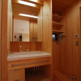 三山の家 -コンパクトで高密度の空間を実現- (洗面脱衣室)