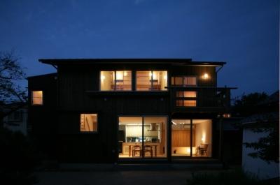 西船の家 (南側夜景外観)