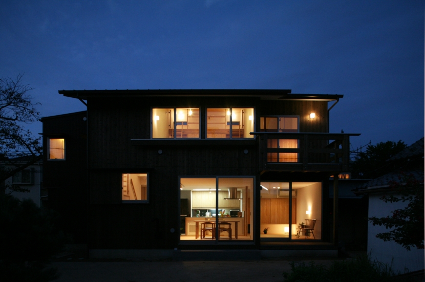 西船の家の写真 南側夜景外観