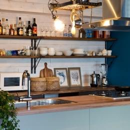 『azur mur』 ― カフェに住む-カップボード・ハンギングラック