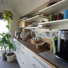 キッチン2 (『NECODOMA』 ― 人にも猫にも心地よく)