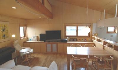 小さな家~緑の中で暮らす木のアトリエ付住宅~ (壁・天井シナ合板)