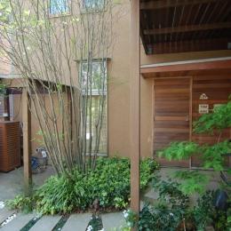 製作木製玄関扉としたい (小さな家~緑の中で暮らす木のアトリエ付住宅~)