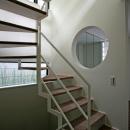階段から地窓