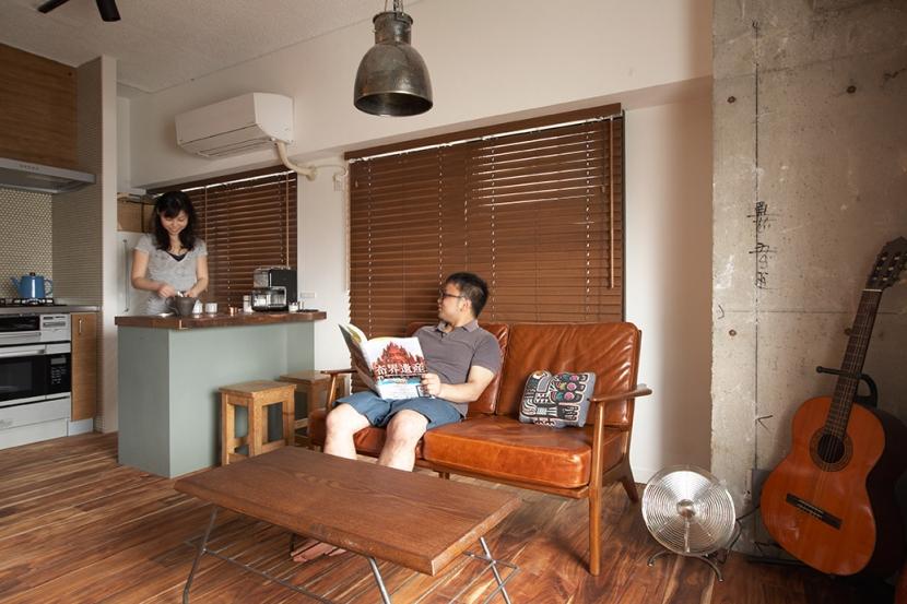 ヴィンテージマンションで渋カッコよく暮らす – circle -の写真 リビング・キッチン2