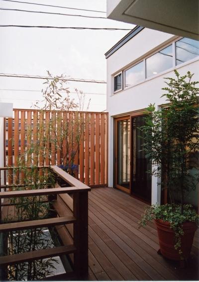 インナーテラスで視線を気にせずアウトドアを楽しむ (都市型住宅-自然を取り込む)