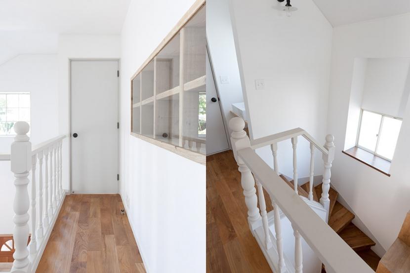 武蔵野の緑に映える青屋根の家 – jasmin bleu -の部屋 2F廊下・階段