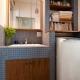 洗面室 (アンティーク雑貨が揃うカフェのような美しい住空間 – BASC GRAY -)
