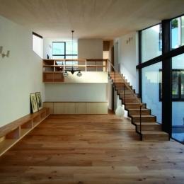 建築家 遠藤誠の事例「若林M邸-既存樹木を活かした3つの中庭を配する棲家-」