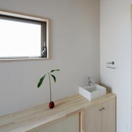 カフェ・ライブラリーの家 (洗面台2)