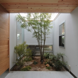 入間町A邸-中庭とデッキテラスを中心に配した二世帯住宅- (中庭)