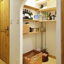 オーダーキッチンのある家-かまくら収納