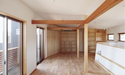 カフェ・ライブラリーの家 (将来仕切れる子ども部屋)