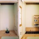 床の間が水屋に早変わり。タタミコーナーが茶室に・・・趣味のお茶もたてられます。