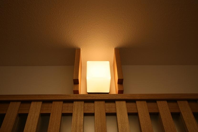 格子ずくしの家の写真 アクセント照明