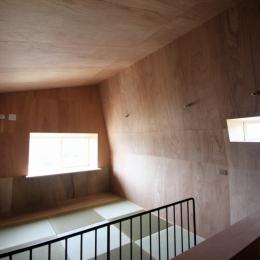 箕面森町の家:屋根裏ゲストルームのある平屋建て住宅 (2階ゲストルーム)