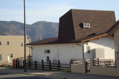 箕面森町の家:箕面森町の注文住宅 . 屋根裏ゲストルームのある平屋建て住宅 (外観)