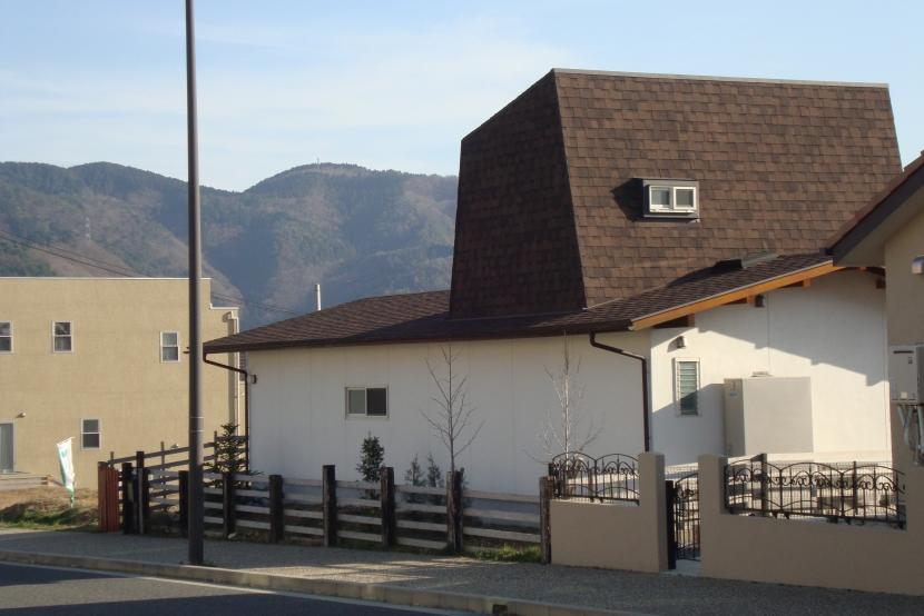 屋根裏ゲストルームのある平屋建て住宅 (外観)