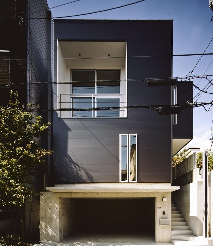 甲南の家:神戸の注文住宅 . ガレージハウス (外観)