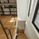 超狭小変形角地の2階建てスキップフロア