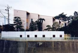 シースルー階段のある家 (どの部屋からも川が眺められる雁行したプラン)