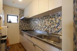 空掘の家:中古住宅フルリノベーション (キッチン)