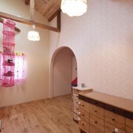 空掘の家:大阪の中古住宅リノベーション (子供室)