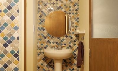 空掘の家:大阪の中古住宅リノベーション (トイレ)