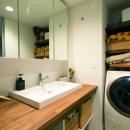 のびのびと暮らせる快適SOHOの写真 洗面室
