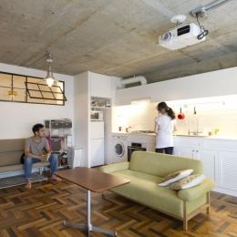 LDKをできるだけ広く。その分寝室は最小限の広さに