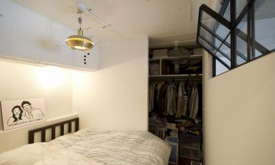 ベッドルーム|LDKをできるだけ広く。その分寝室は最小限の広さに