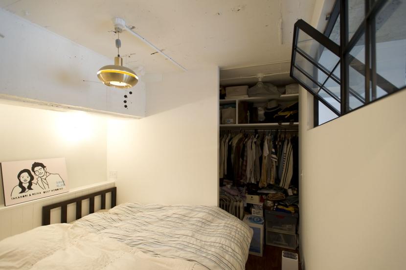 LDKをできるだけ広く。その分寝室は最小限の広さにの写真 ベッドルーム