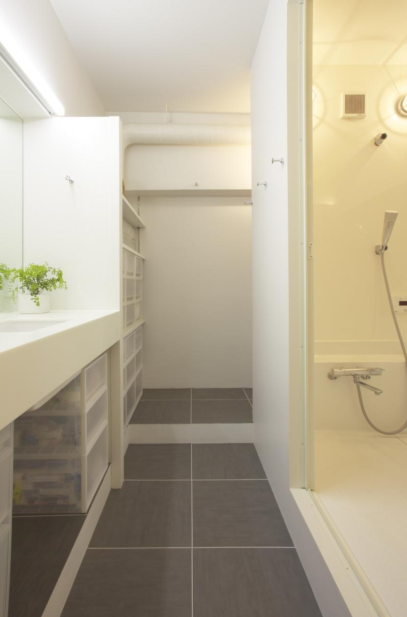 水回りとWICを1か所にまとめて LDKをゆったりとの部屋 バスルーム